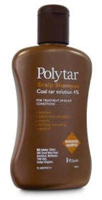 Polytar Scalp Shampoo Itchiness Eczema Psoriasis  Dandruff Coal Tar 4%-150ml NEW