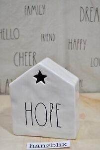 Rae-Dunn-HOPE-Luminary-Star-House-Tea-Light-Ceramic-Christmas-NEW-039-19
