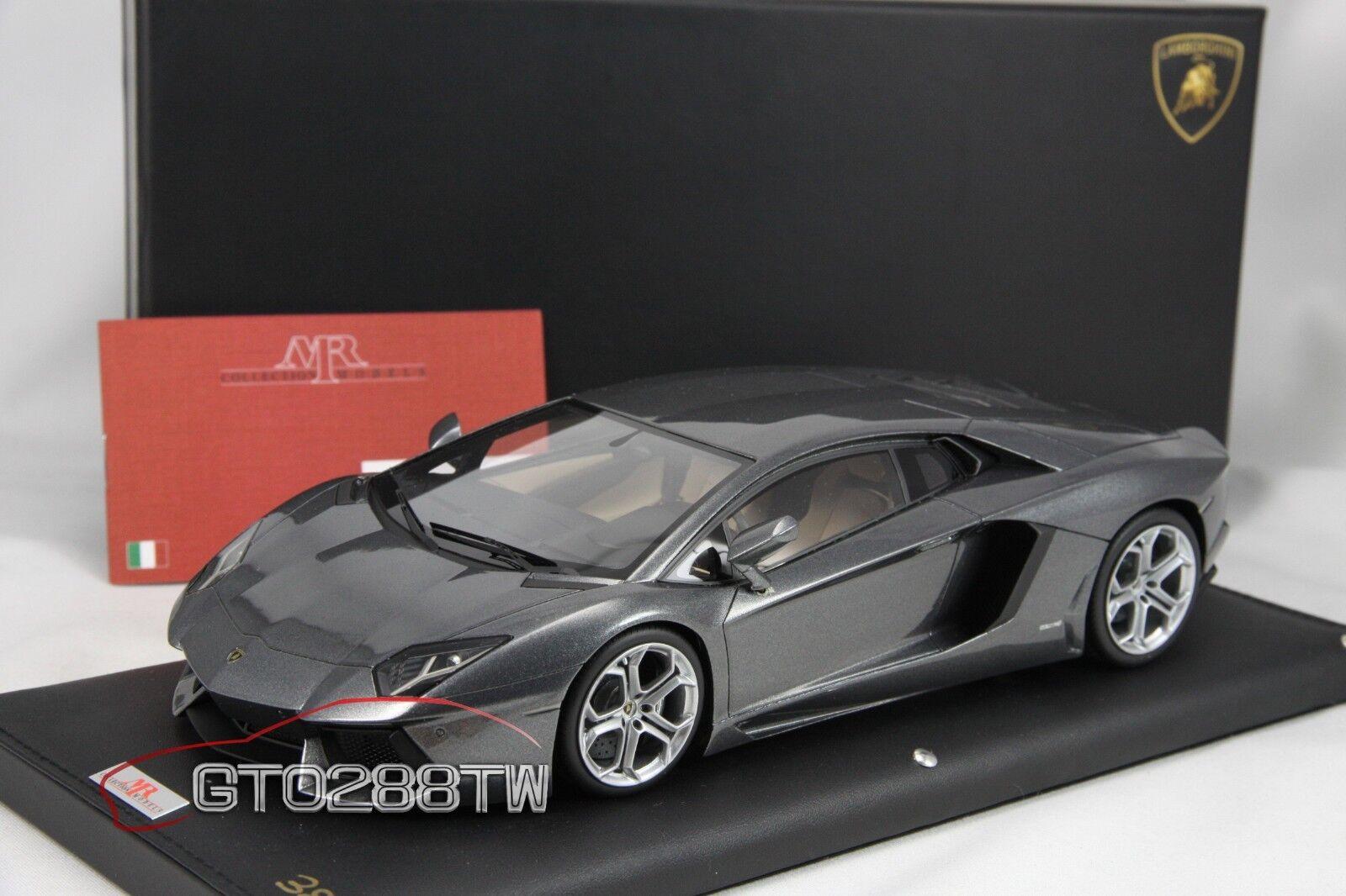 El señor Lamborghini Aventador LP700-4 escala 1 18 (GRIGIO ESTOQUE-grigio alcanzado) Lambo 06C