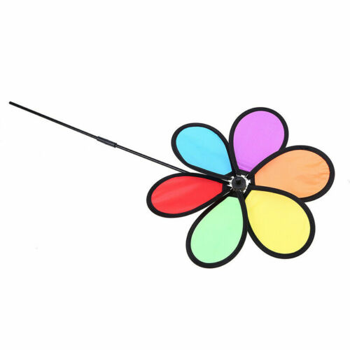 New Colorful Pinwheels Toy Home Garden Outdoor Decor DIY Windmill Kids Toy Gift