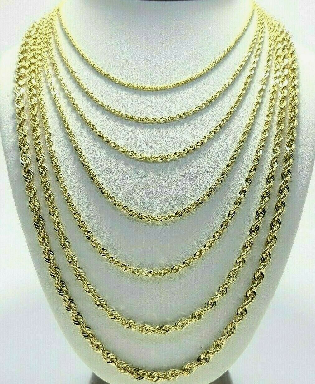 """10K Gold Yellow Rope Chain 24/"""" 2.5mm wide 2.6 Grams"""