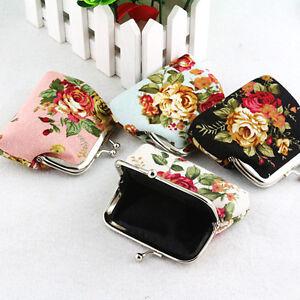Women-Lady-Vintage-Rose-Floral-Print-Small-Mini-Wallet-Change-Coin-Purse-Clutch