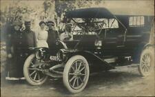 Early Car Auto License Plate CRISP Real Photo Postcard c1910