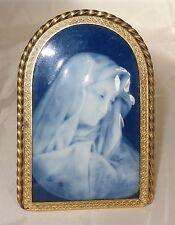 Vierge émaux de Limoges signé Marcel CHAUFRIASSE Barbotine / Sainte Religion
