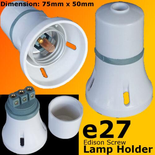 5x ES Lamp Holder Edison Screw E27 Bulb Light Fitting DIY Material 240V 3 pieces