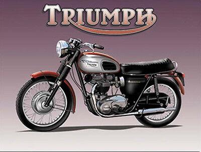 Bonneville Motorcycle, Vintage British Motorbike Old Bike, Small Metal/Tin Sign