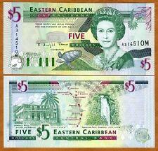 Eastern East Caribbean, $5 (1994) Montserrat, P-31m, UNC