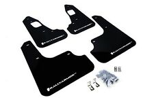 Rally Armor Mud Flaps Guards for 08-15 Lancer EVO X (Black w/White Logo)