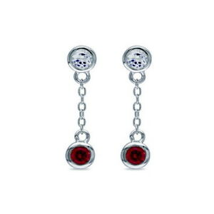 Image Is Loading Ruby Drop Earrings 925 Sterling Silver Gold Hallmarked