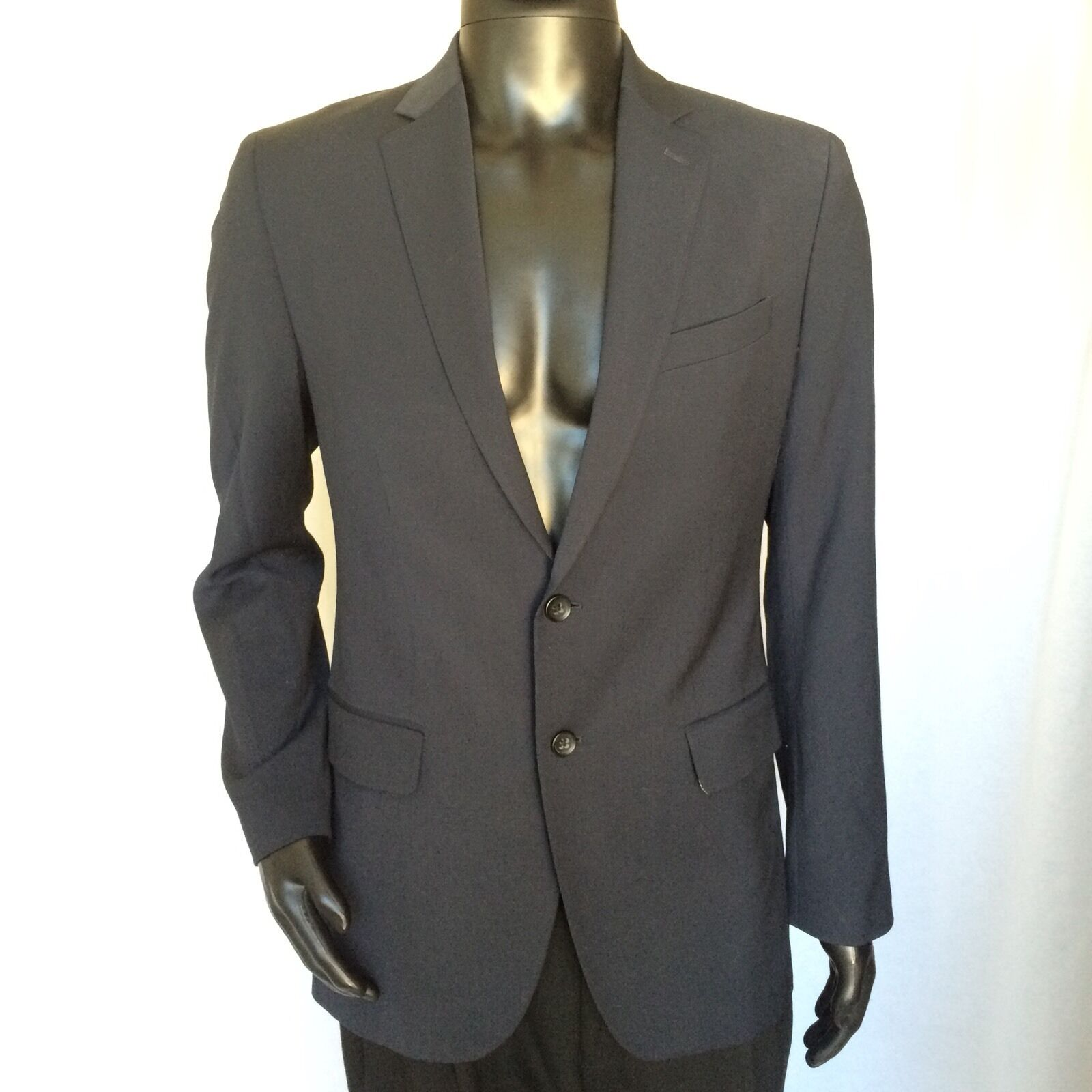 Banana Republic  Herren TailoROT Fit Wool Blazer Größe 38 Regular Blau Suit Coat