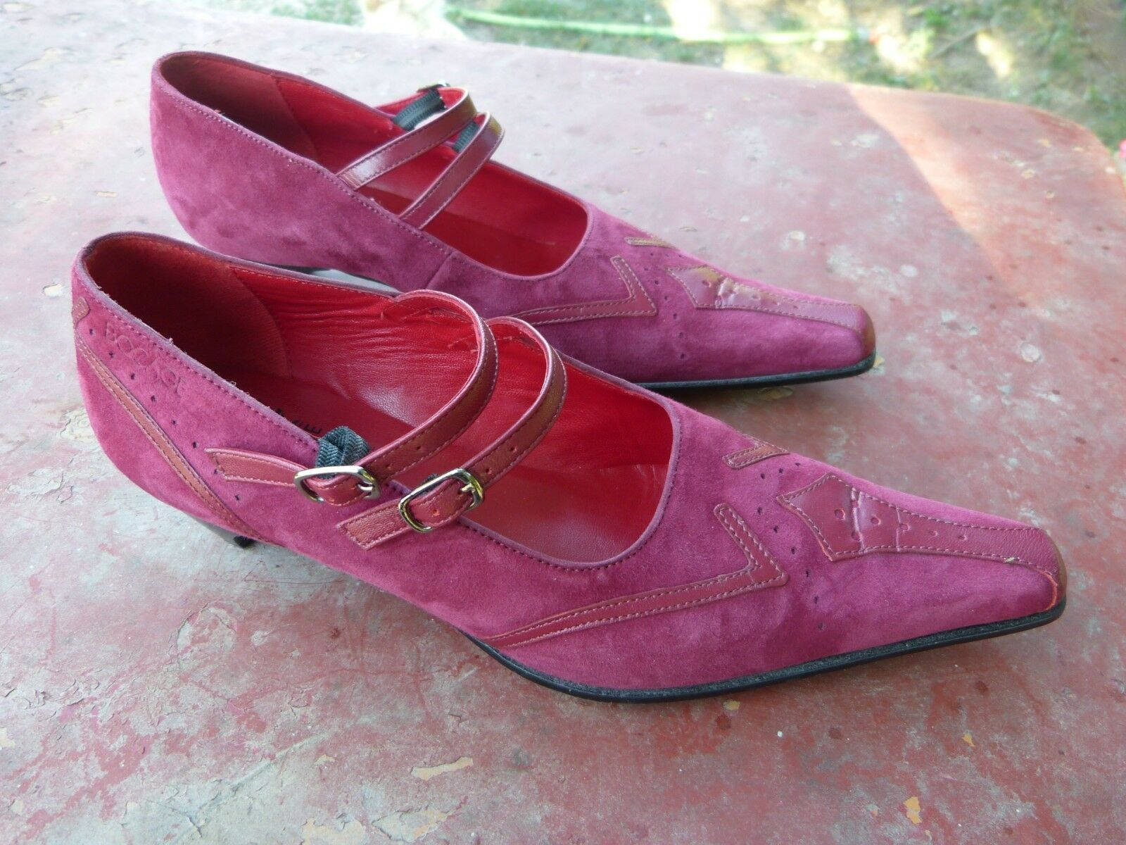 GGGG shoes bocage purple plum size 38 french in excellent condition