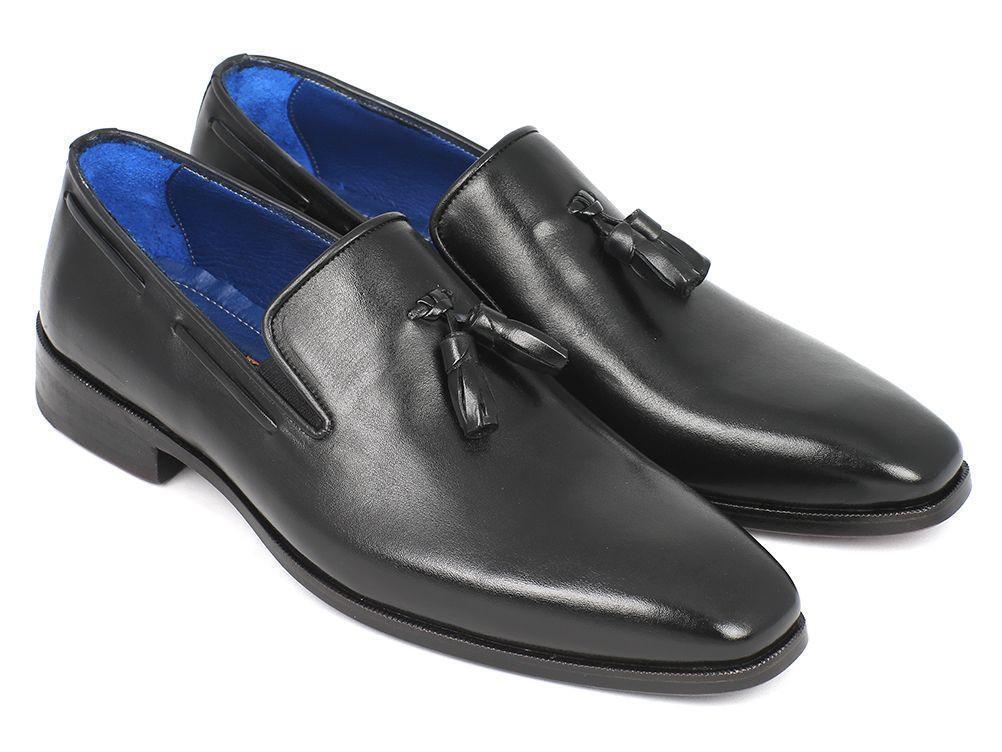 vendita con alto sconto Handmade Uomo nero leather tassels scarpe leather Sole Moccasins scarpe scarpe scarpe Loafer  promozioni