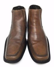 24ab54b2bab Steve Madden Mens Sprocket Wingtip Ankle Boot Shoes Brown Leather US ...