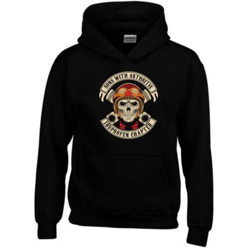 Sons With Arthritis Hoodie Ibuprofen Chapter Skull Pistons SOA Gift Sweatshirt