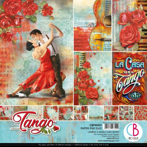 "Ciao Bella Double-Sided Paper Pack 90lb 12/""X12/"" 12//Pkg-Tango 12 Designs//1 Each"