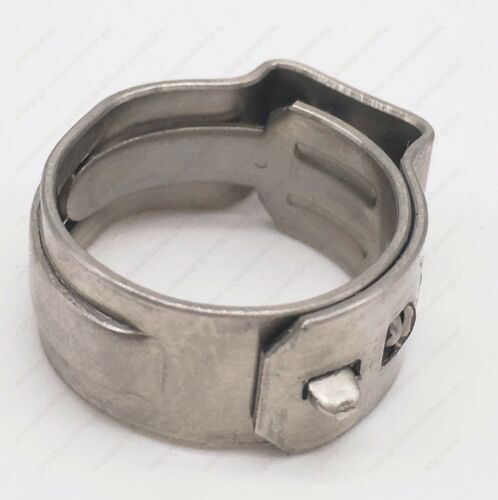 """20 PCS 3//8/"""" PEX Stainless Steel Ear Clamp Cinch Ring Crimp Pinch Fitting Tubing"""