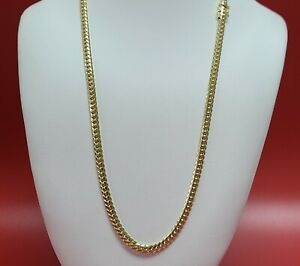 """10K 24""""  Yellow Gold 5.2mm Real Miami Cuban Link Necklace Chain SOLID Box Clasp"""