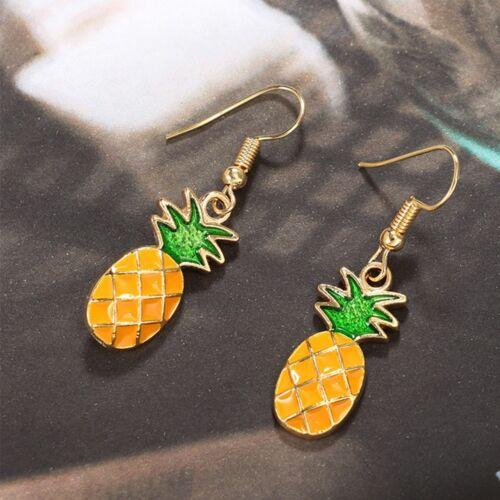 Fashion jaune ANANAS FRUIT Forme Femmes Bijoux Dangle Boucles d/'oreilles crochet