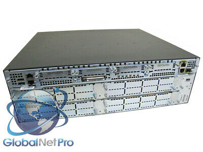 4NME 128F//512D USED Cisco CISCO3845 Router w//2GE 4HWIC IP Base 1SFP