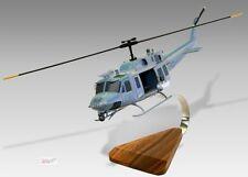 Bell UH-1 Huey US Marines Open Cabin Mahogany Wood Desktop Helicopter Model