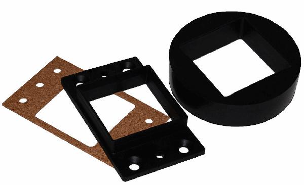 Sportluftfilter Adapter für L-Jetronic Einspritzanlage von eckig auf rund