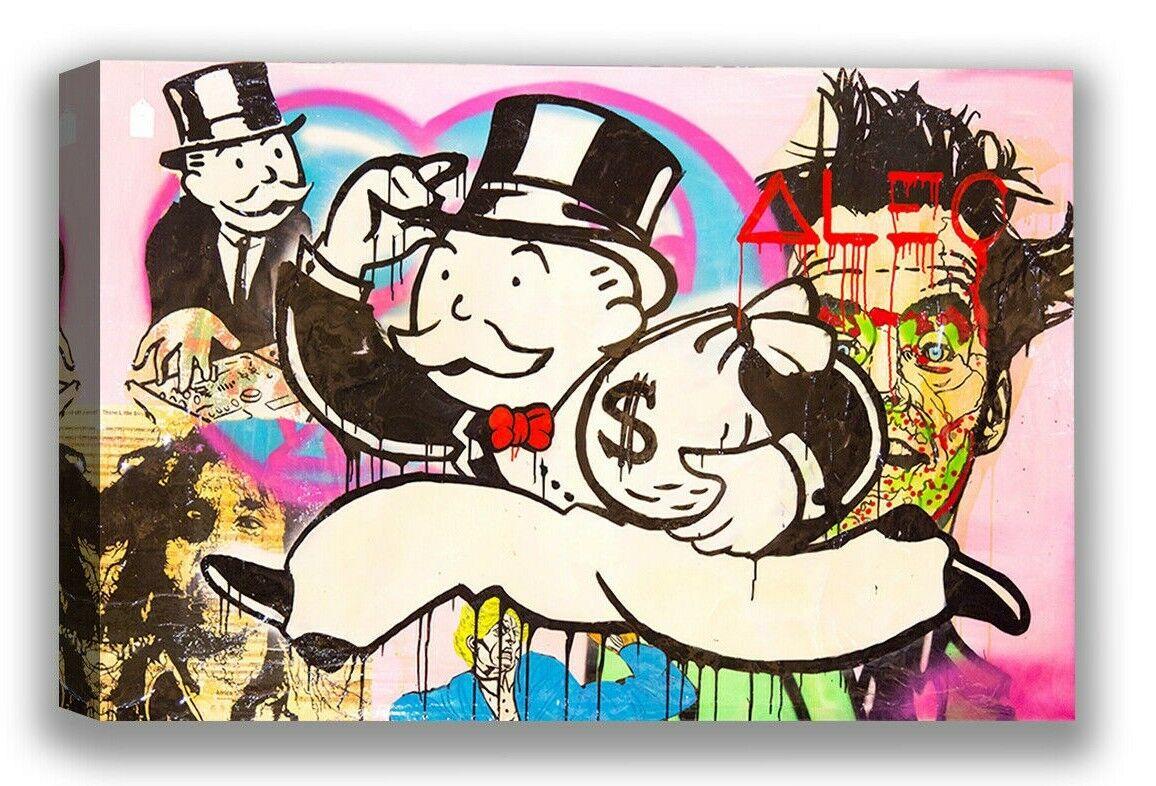 Alec Monopoly Street Art Canvas Money Graffiti Wall Decor