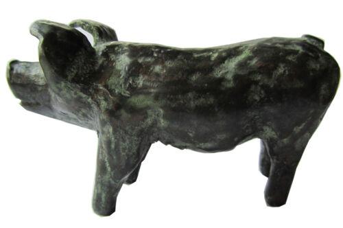 Bronze Figur Skulptur keltisches Glücksschwein Bronze sculpture Celtic Lucky Pig