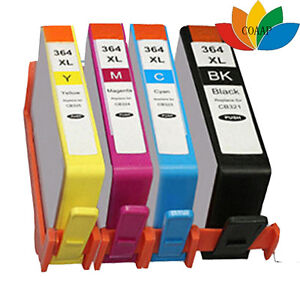 4-Cartuchos-de-tinta-para-HP-364-XL-Photosmart-5510-5515-5520-5524-6510-Non-Oem