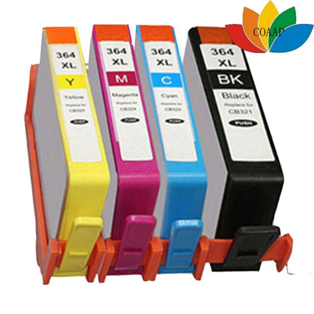 4 Cartuchos De Tinta Non Oem 364 XL Deskjet 3070a 3520 Officejet 4610 4620 462