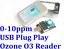 USB Plug Play Ozone O3 Portable Gas Sensor Analyze Ecokn Reader Detector 0-10ppm