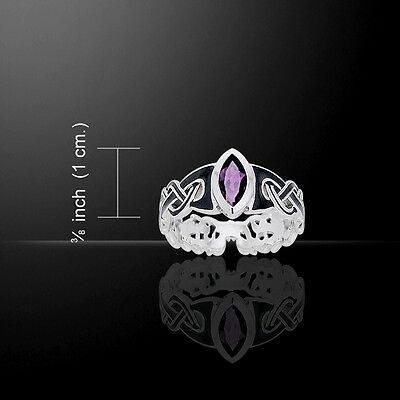 Viking Borre .925 Sterling Silver Ring by Peter Stone Jewelry