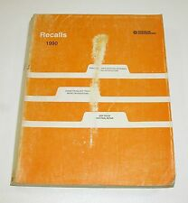 1990 Chrysler Dodge Recall Notifications Manual GOOD USED CONDITION