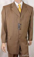 44r Successo Uomo Suit Mens 44 R Suit Brown 3pc 38w W/vest
