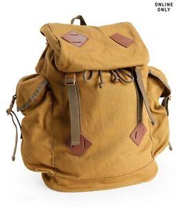 8e44c433c3 Details about Aeropostale Aero Solid Parachute Buckle Backpack Military  Canvas School Bag