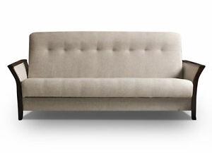 couch mit schlaffunktion bettsofa schlafsofa klappsofa kleine beige barbados ebay. Black Bedroom Furniture Sets. Home Design Ideas