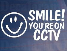 SMILE! YOU'RE ON CCTV Car/Van/Window/Bumper/Shop/House Camera Security Sticker