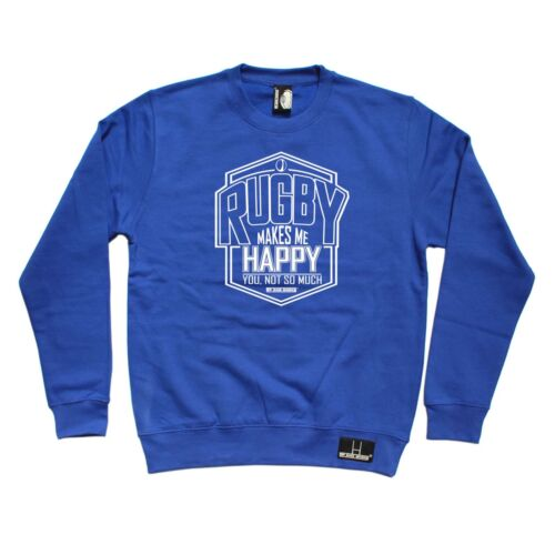 Rugby sweat rugby me rend heureux RUGGA Union Drôle Anniversaire Pull