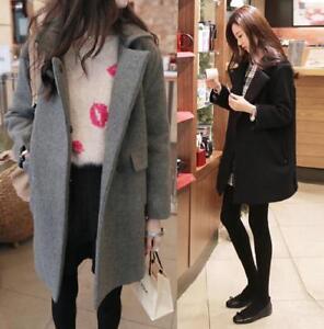 Warm Coat Addensare Womens Long Parka Wool Trench New bt0 Cashmere Winter Outwear 0q4X7