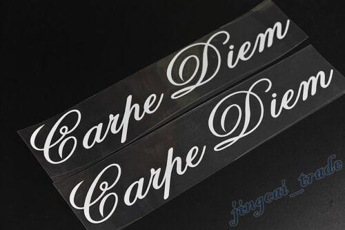 2 pcs Pair Carpe Diem Logo Car Auto SUV Body Window Badge Emblem Sticker Decal