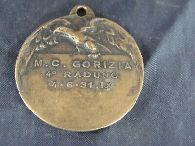 Qualificato Medaglia Moto Club Gorizia 1931 Smoothing Circulation And Stopping Pains