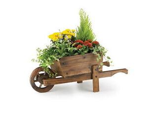 Brouette Decorative En Bois Pour Plantes Exterieur