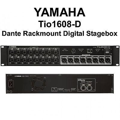 YAMAHA Tio1608-D Dante Rackmount Digital CAT5e I/O Tour Stagebox