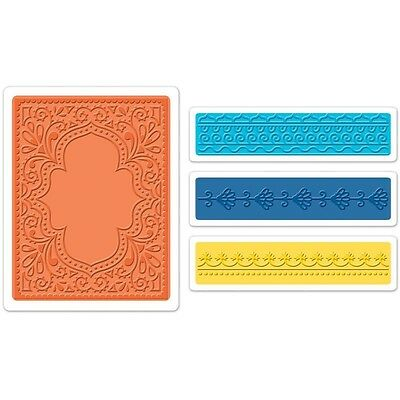 Sizzix Textured Impressions A2 Embossing Folders 4/Pkg - Moroccan