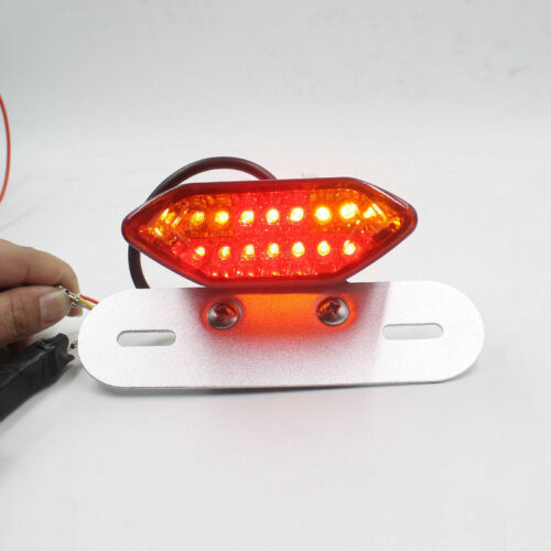 Universal Motorcycle 14LED Brake Tail light Turn Signal License Plate Integrated