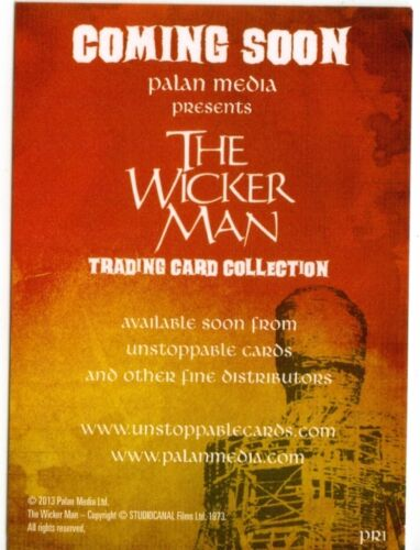 PR1 Promo Card from Unstoppable Cards The Wicker Man Preview Card Set
