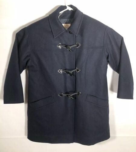 Pendleton Vintage Blue Wool Luxury Toggle Duffel … - image 1