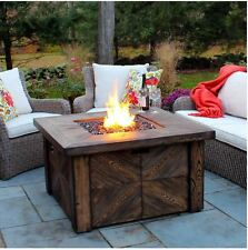 Outdoor Gas Fireplace Patio Fire Pit Table Propane Heater Backyard Deck LP Cover