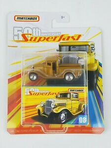 2019-Matchbox-50TH-Anniversary-Superfast-1932-Ford-Pickup-Moving-Parts