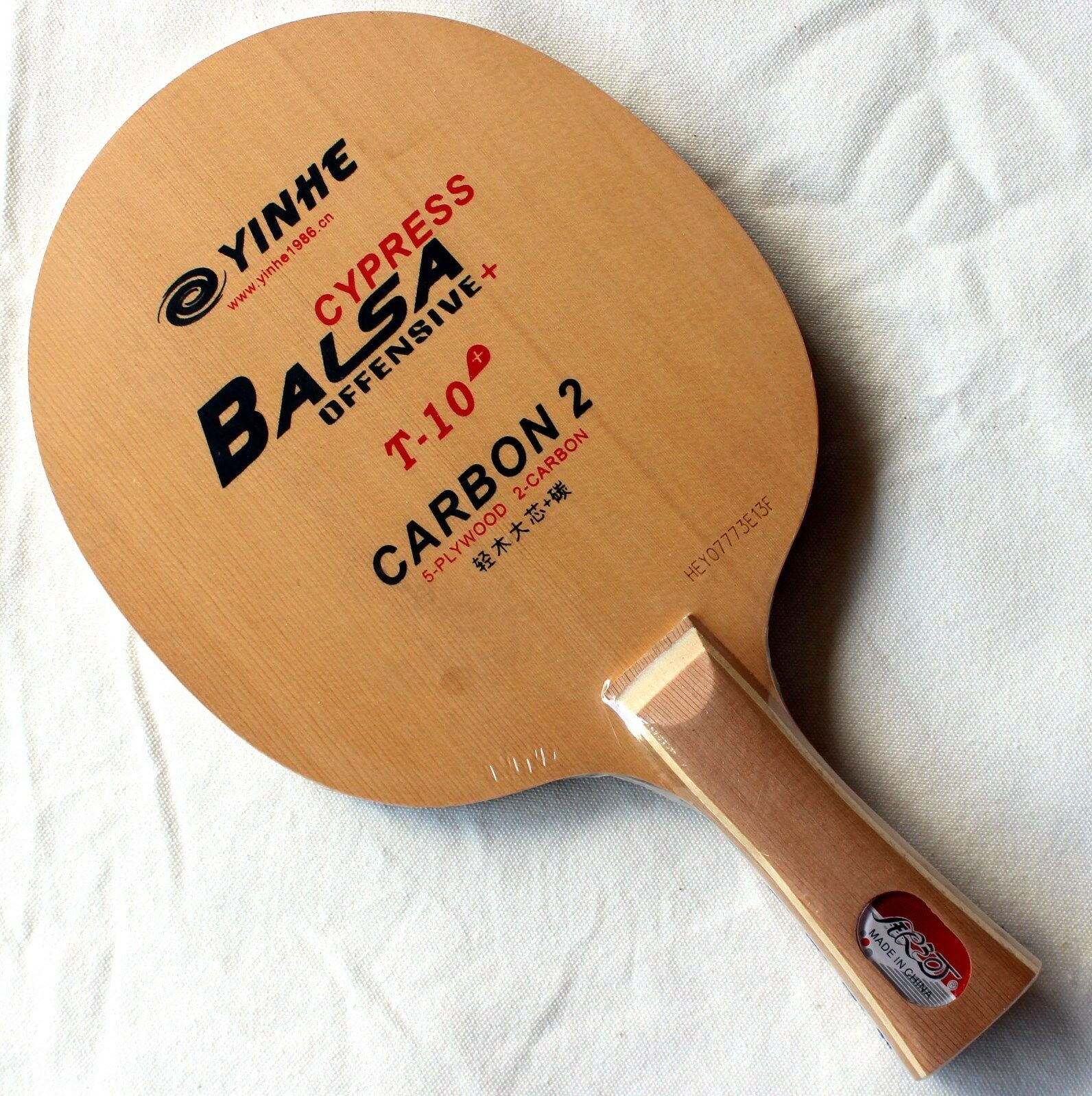 7x Galaxy YinHe T-10+ Table Tennis Blades, Balsa Cypress Carbon2, OFF+, UK