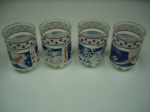 Libby-Apollo-14-Glasses-set-of-4-11-oz-cups-1971-Alan-Shepard-Moon-Landing-USA